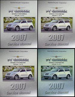 online car repair manuals free 2007 chrysler pt cruiser electronic throttle control 2007 chrysler pt cruiser repair shop manual original 4 volume set