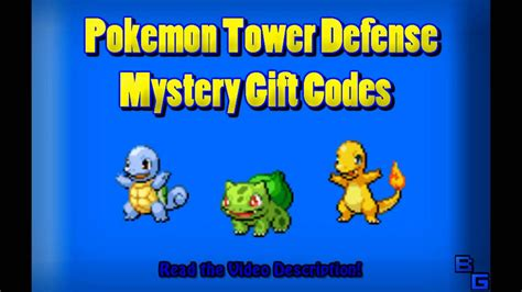pokemon tower defense    list  mystery gift codes