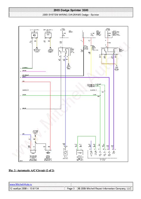 Dodge Sprinter Wiring Diagrams Sch Service