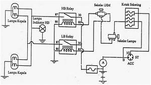 Gambar Rangkaian Lampu Kepala Sepeda Motor