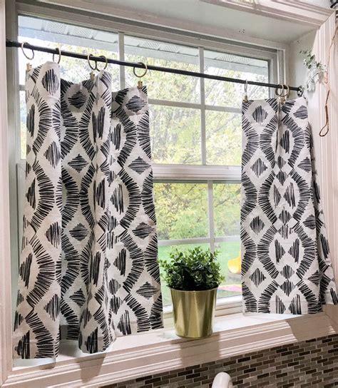 modern boho cafe curtain window treatments curtains