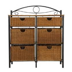 wicker kitchen furniture 6 drawer iron wicker bakers rack storage basket stand chest furniture kitchen ebay