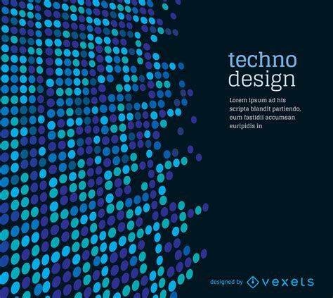 dotted techno background vector