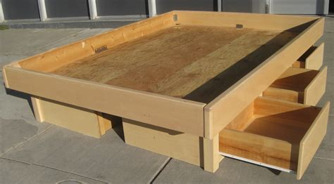 build a bed how to build a platform bed with storage drawers plans