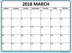 Calendrier de mars 2018 français imprimable modèle Excel