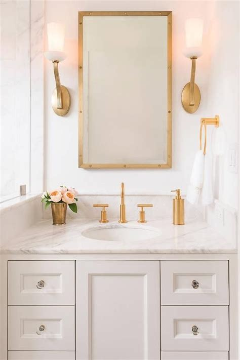 finishing kitchen cabinets ideas 18 gorgeous marble bathrooms with brass gold fixtures