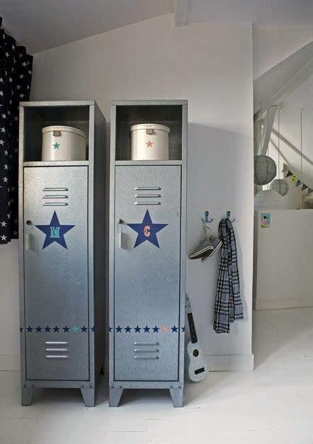 Ways To Use Metal Lockers In Kids' Rooms Storage