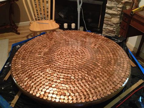 penny table  resin   great penny table bar