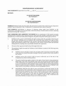 music sub publishing agreement legal forms and business With music legal documents