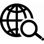 Icon Internet Network Global Magnifier Zoom Svg