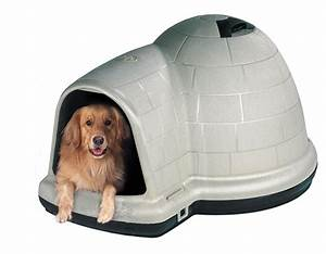 Petmate indigo igloo dog house review doggy savvy for Petmate dog igloo xl