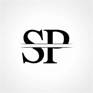 Sp, Letter, Logo, Design, Stock, Vector, Illustration, Of