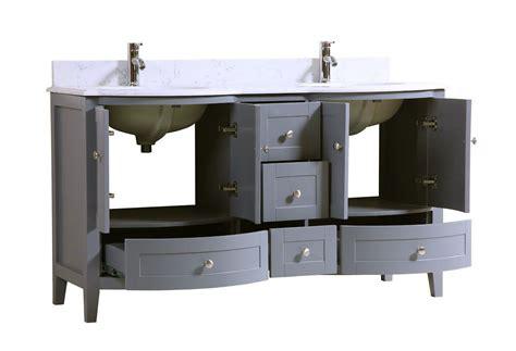 Inch Double Sink Bathroom Vanity Cabinet Grey With