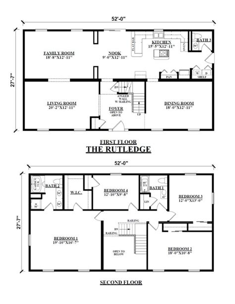 image result  floor plan  story rectangular house square house plans rectangle house