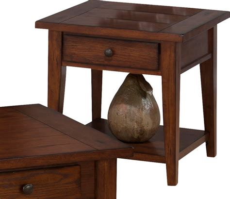side table with drawer and shelf jofran 443 3 clay county square end table with drawer and