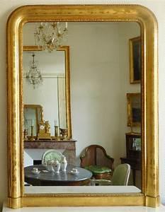 Miroir Doré Rectangulaire : miroir en bois dor la feuille d 39 or glace au mercure poque napol on iii ~ Teatrodelosmanantiales.com Idées de Décoration
