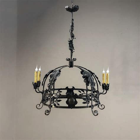 Vintage Wrought Iron Chandelier by Antique Italian Wrought Iron Chandelier