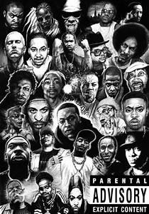 Rap Gods Rapper Collage Poster 36u0026quot X 24u0026quot Decor 06 Ebay