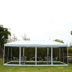 outsunny    outdoor pop  party tent canopy gazebo mesh side walls beige