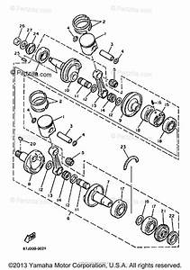 Yamaha Snowmobile 1991 Oem Parts Diagram For Crankshaft