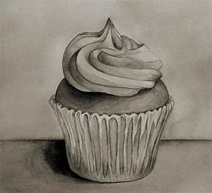 Cupcake In Black and White by GalleryPiece.deviantart.com ...