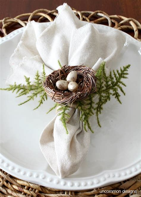 birds nest napkin rings uncommon designs