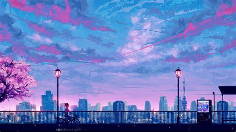 Anime Scenery Wallpaper - 2048x1152 anime cityscape landscape scenery 5k 2048x1152