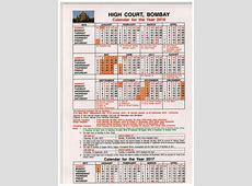 Bombay High Court Calendar for 2016 A N A R & Co