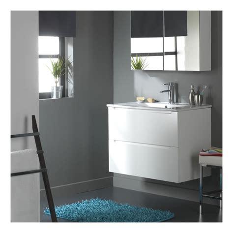 plane de travail cuisine soldes meuble de salle de bain 80 cm 2 tiroirs blanc laqué