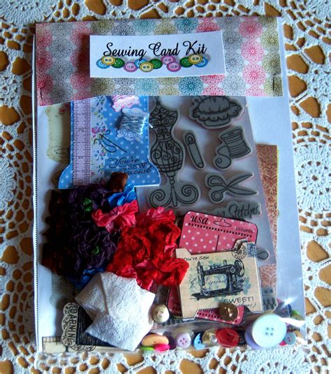 shoregirls creations sewing themed card kit
