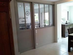 agencement tva 10 verriere porte coulissante With porte de garage et porte d atelier en bois
