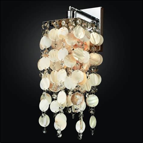 oyster shell wall sconce cityscape 598s glow 174 lighting