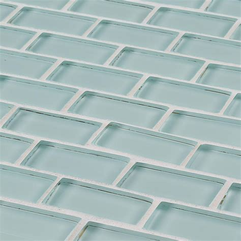 brick glass tiles jeffrey court glacier ice brick 12 in x 12 in x 8 mm glass mosaic wall tile 99185 the home depot