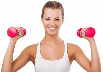 Clipart Fitness Exercising Ladies Transparent Gym Woman
