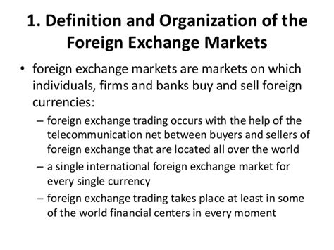 foreign exchange market trading foreign exchange market