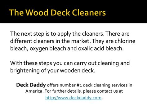 Deck Brightener Oxalic Acid by Carrying Out Cleaning And Brightening Of Wooden Deck