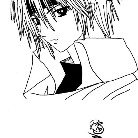 anime boy coloring pages   printable