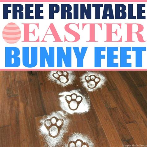printable easter bunny feet template simple  pretty