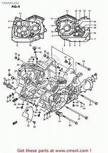 Suzuki Vs1400glp Intruder 1993  P  Usa  E03  Crankcase