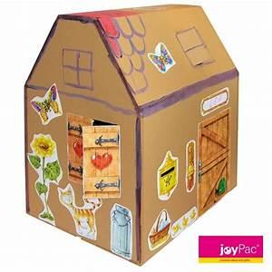 Haus Aus Pappe Basteln : kartonhaus von joypac zum basteln und gestalten das karton haus entsteht mit wenigen ~ A.2002-acura-tl-radio.info Haus und Dekorationen