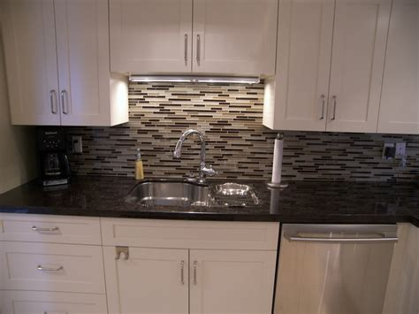 kitchen mirror backsplash glass tile backsplash kitchen contemporary with beige wall