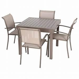 Table De Jardin Extensible Aluminium : table de jardin extensible piazza aluminium 180 x 90 cm moka salon de jardin table et ~ Melissatoandfro.com Idées de Décoration