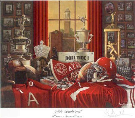 university  alabama tide traditions collage art prints