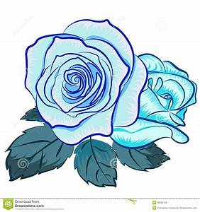 Illustration Of Blu Rose Royalty Free Stock Photo - Image ...