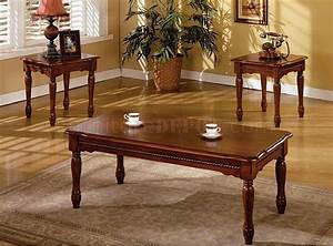 Cm4145 san carlos coffee table 2 end tables 3pc set in for Cherry coffee table and end tables