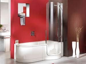 baignoire combinee a une douche avec porte 1 place 180cm With baignoire douche a porte