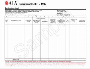 g703 1992 continuation sheet for g702 aia bookstore With aia documents g702 and g703