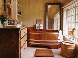 Salle De Bain En Bois : le bois habille la salle de bain floriane lemari ~ Teatrodelosmanantiales.com Idées de Décoration