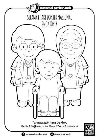 mewarnai gambar anak mewarnai gambar hari dokter nasional