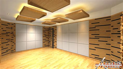 Desain rumah 2 lantai ukuran 12 x 19 m akan dibangun dituban jawa timur, rumah ini memiliki carport untuk 2 mobil, ruang tamu Desain Studio musik Pribadi Solo, Jawa Tengah | Akustik Ruang